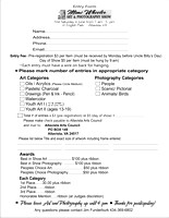 Mimmy Wheeler Art & Photo Show Entry Form